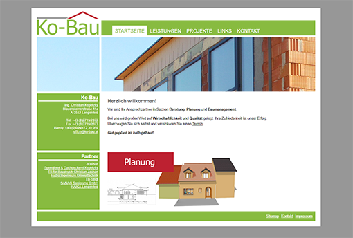 Ko-Bau Webseite